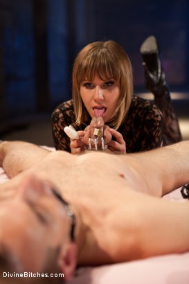 "Photo number 7 from Educating a Bitchboy: Episode 5 ""Ultimate Denial"" shot for Divine Bitches on Kink.com. Featuring Jason Miller, Maitresse Madeline Marlowe  and Kade in hardcore BDSM & Fetish porn."
