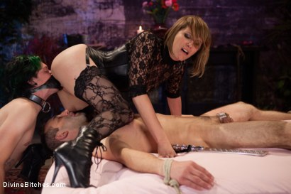 "Photo number 10 from Educating a Bitchboy: Episode 5 ""Ultimate Denial"" shot for Divine Bitches on Kink.com. Featuring Jason Miller, Maitresse Madeline Marlowe  and Kade in hardcore BDSM & Fetish porn."