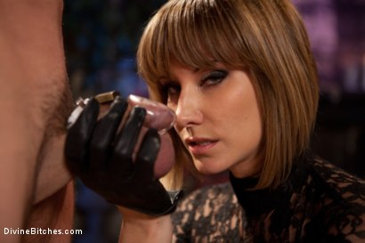 "Photo number 4 from Educating a Bitchboy: Episode 5 ""Ultimate Denial"" shot for Divine Bitches on Kink.com. Featuring Jason Miller, Maitresse Madeline Marlowe  and Kade in hardcore BDSM & Fetish porn."