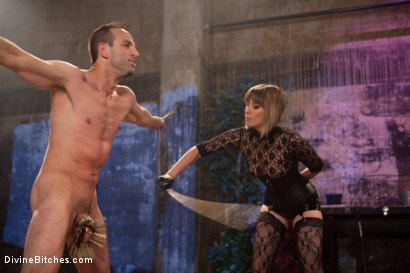 "Photo number 11 from Educating a Bitchboy: Episode 5 ""Ultimate Denial"" shot for Divine Bitches on Kink.com. Featuring Jason Miller, Maitresse Madeline Marlowe  and Kade in hardcore BDSM & Fetish porn."