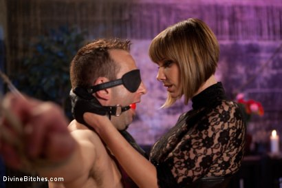 "Photo number 1 from Educating a Bitchboy: Episode 5 ""Ultimate Denial"" shot for Divine Bitches on Kink.com. Featuring Jason Miller, Maitresse Madeline Marlowe  and Kade in hardcore BDSM & Fetish porn."