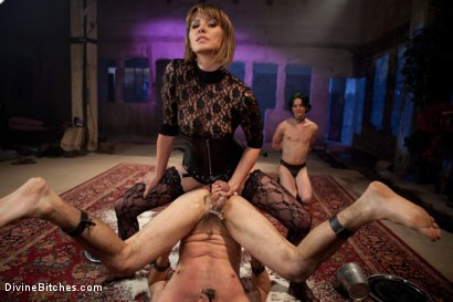 "Photo number 5 from Educating a Bitchboy: Episode 5 ""Ultimate Denial"" shot for Divine Bitches on Kink.com. Featuring Jason Miller, Maitresse Madeline Marlowe  and Kade in hardcore BDSM & Fetish porn."