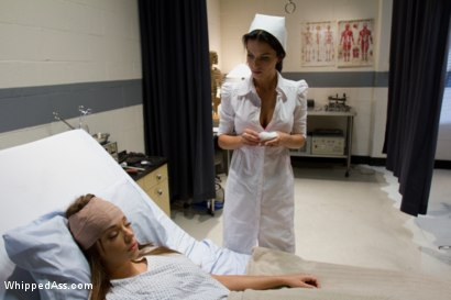 Photo number 1 from Revenge on the Kinky Nurse shot for Whipped Ass on Kink.com. Featuring Nika Noire and Bailey Brooks in hardcore BDSM & Fetish porn.