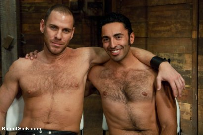 Photo number 15 from Dom in Training - Drew shot for Bound Gods on Kink.com. Featuring Drew Cutler, Van Darkholme and Gianni Luca in hardcore BDSM & Fetish porn.