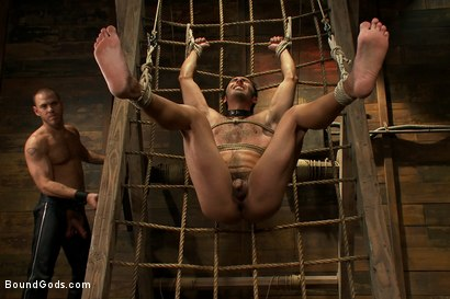 Photo number 11 from Dom in Training - Drew shot for Bound Gods on Kink.com. Featuring Drew Cutler, Van Darkholme and Gianni Luca in hardcore BDSM & Fetish porn.