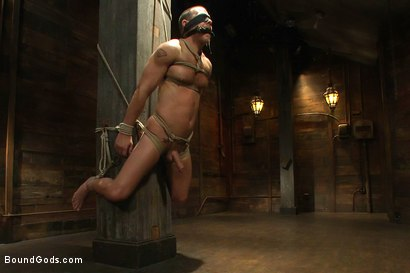 Photo number 6 from Dom in Training - Drew shot for Bound Gods on Kink.com. Featuring Drew Cutler, Van Darkholme and Gianni Luca in hardcore BDSM & Fetish porn.