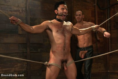 Photo number 10 from Dom in Training - Drew shot for Bound Gods on Kink.com. Featuring Drew Cutler, Van Darkholme and Gianni Luca in hardcore BDSM & Fetish porn.