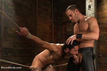 Photo number 9 from Dom in Training - Drew shot for Bound Gods on Kink.com. Featuring Drew Cutler, Van Darkholme and Gianni Luca in hardcore BDSM & Fetish porn.