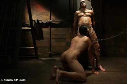 Photo number 2 from Dom in Training - Drew shot for Bound Gods on Kink.com. Featuring Drew Cutler, Van Darkholme and Gianni Luca in hardcore BDSM & Fetish porn.