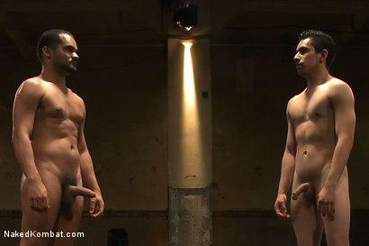 Photo number 15 from Leo Lust vs Tony Vega shot for Naked Kombat on Kink.com. Featuring Tony Vega and Leo Lust in hardcore BDSM & Fetish porn.