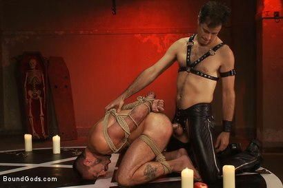Photo number 14 from My Master's Master - Halloween Update shot for Bound Gods on Kink.com. Featuring Alessio Romero and Master Avery in hardcore BDSM & Fetish porn.