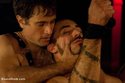 Photo number 11 from My Master's Master - Halloween Update shot for Bound Gods on Kink.com. Featuring Alessio Romero and Master Avery in hardcore BDSM & Fetish porn.