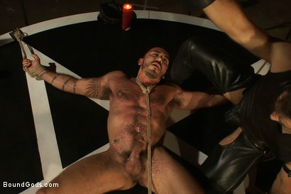 Photo number 6 from My Master's Master - Halloween Update shot for Bound Gods on Kink.com. Featuring Alessio Romero and Master Avery in hardcore BDSM & Fetish porn.