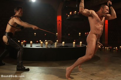 Photo number 4 from My Master's Master - Halloween Update shot for Bound Gods on Kink.com. Featuring Alessio Romero and Master Avery in hardcore BDSM & Fetish porn.