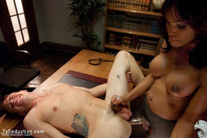 Photo number 10 from School's In<br> Lesson One: Suck Her Cock shot for TS Seduction on Kink.com. Featuring Star and John Jammen in hardcore BDSM & Fetish porn.