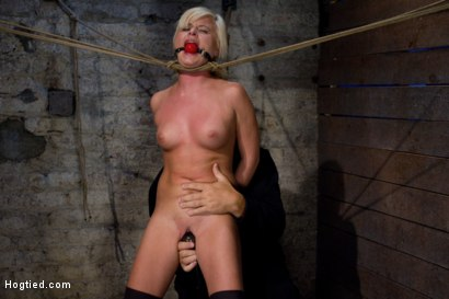 Photo number 11 from Little blond Aussie chick walked into the wrong sub basement<br>Welcome to America. shot for Hogtied on Kink.com. Featuring Kelly Surfer in hardcore BDSM & Fetish porn.