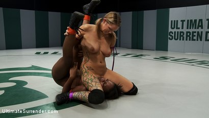 Photo number 11 from Blond battles stronger black girl<br>The only non-scripted competitive sex wrestling in the world shot for Ultimate Surrender on Kink.com. Featuring Rain DeGrey and Coffee Brown in hardcore BDSM & Fetish porn.