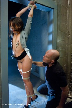 Photo number 2 from Defiant Bound Slut shot for Sex And Submission on Kink.com. Featuring Mark Davis and Allie Haze in hardcore BDSM & Fetish porn.