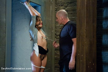 Photo number 3 from Defiant Bound Slut shot for Sex And Submission on Kink.com. Featuring Mark Davis and Allie Haze in hardcore BDSM & Fetish porn.