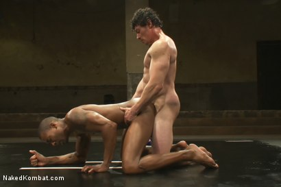 Photo number 12 from Scott Alexander vs Jeremy Tyler  <br> The Oil Match shot for Naked Kombat on Kink.com. Featuring Scott Alexander and Jeremy Tyler in hardcore BDSM & Fetish porn.