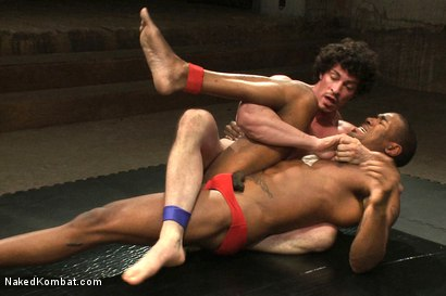 Photo number 3 from Scott Alexander vs Jeremy Tyler  <br> The Oil Match shot for Naked Kombat on Kink.com. Featuring Scott Alexander and Jeremy Tyler in hardcore BDSM & Fetish porn.