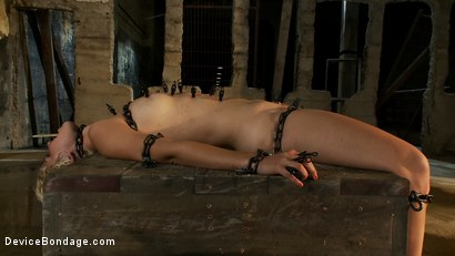 Photo number 9 from The Sweeter They Look, The Funner They Are Chained to a Box shot for Device Bondage on Kink.com. Featuring Chloe Camilla in hardcore BDSM & Fetish porn.