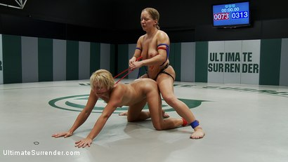 Photo number 15 from Season 7's Championship Match up! <br> The only non-scripted real wrestling on the net. shot for Ultimate Surrender on Kink.com. Featuring Vendetta and Dia Zerva in hardcore BDSM & Fetish porn.