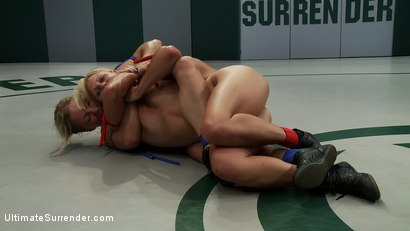 Photo number 8 from Season 7's Championship Match up! <br> The only non-scripted real wrestling on the net. shot for Ultimate Surrender on Kink.com. Featuring Vendetta and Dia Zerva in hardcore BDSM & Fetish porn.
