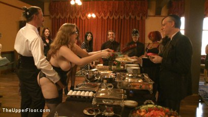 Photo number 1 from Stefanos' Brunch shot for The Upper Floor on Kink.com. Featuring Maestro Stefanos, Nerine Mechanique and Jessie Cox in hardcore BDSM & Fetish porn.
