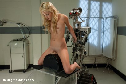 Photo number 4 from Daisy Dukes vs. Fuckzilla <br> Machine fucking a rookie Blond shot for Fucking Machines on Kink.com. Featuring Sarah Jaymes in hardcore BDSM & Fetish porn.