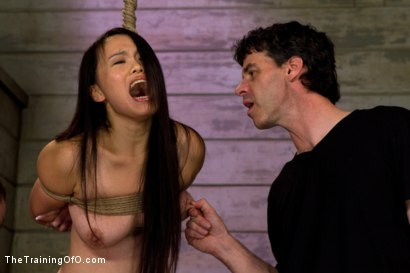 Photo number 3 from Madeleine Day 4 shot for The Training Of O on Kink.com. Featuring Madeleine Mei and Wolf Hudson in hardcore BDSM & Fetish porn.
