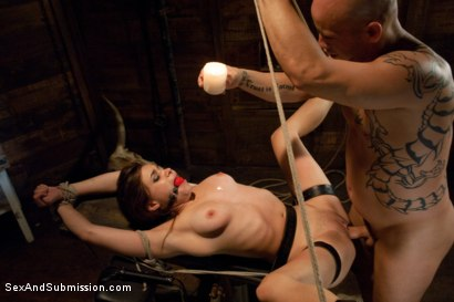 Photo number 13 from The Bondage Virgin shot for Sex And Submission on Kink.com. Featuring Tiffany Star and Derrick Pierce in hardcore BDSM & Fetish porn.
