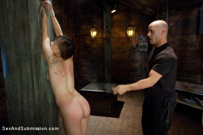 Photo number 4 from The Bondage Virgin shot for Sex And Submission on Kink.com. Featuring Tiffany Star and Derrick Pierce in hardcore BDSM & Fetish porn.