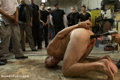 Photo number 4 from Ned and The Gay Mafia shot for Bound in Public on Kink.com. Featuring Ned Mayhem and Christian Wilde in hardcore BDSM & Fetish porn.