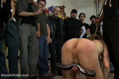 Photo number 7 from Ned and The Gay Mafia shot for Bound in Public on Kink.com. Featuring Ned Mayhem and Christian Wilde in hardcore BDSM & Fetish porn.