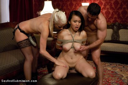 Photo number 9 from Spouse Training 3 shot for Sex And Submission on Kink.com. Featuring John Strong, Madeleine Mei and Lorelei Lee in hardcore BDSM & Fetish porn.