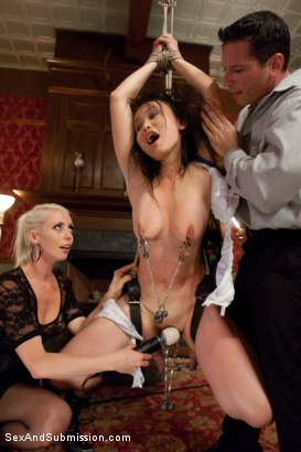 Photo number 4 from Spouse Training 3 shot for Sex And Submission on Kink.com. Featuring John Strong, Madeleine Mei and Lorelei Lee in hardcore BDSM & Fetish porn.