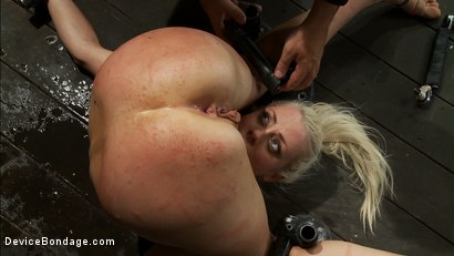 Photo number 11 from Hot Blond, is caned, ass fucked & made to cum over and over   4 DOM's brutally work the whore over shot for Device Bondage on Kink.com. Featuring Lorelei Lee, Isis Love and James Deen in hardcore BDSM & Fetish porn.