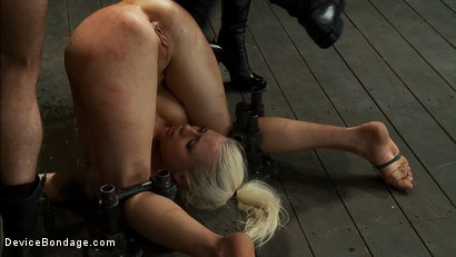 Photo number 10 from Hot Blond, is caned, ass fucked & made to cum over and over   4 DOM's brutally work the whore over shot for Device Bondage on Kink.com. Featuring Lorelei Lee, Isis Love and James Deen in hardcore BDSM & Fetish porn.