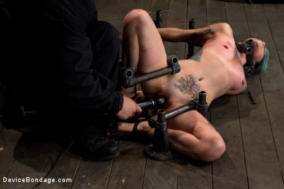 Photo number 13 from Pain slut takes some brutal punishment & orgasms   Extreme cunt & nipple torment, fucking ouch! shot for Device Bondage on Kink.com. Featuring Krysta Kaos in hardcore BDSM & Fetish porn.