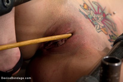 Photo number 8 from Pain slut takes some brutal punishment & orgasms<br>Extreme cunt & nipple torment, fucking ouch! shot for Device Bondage on Kink.com. Featuring Krysta Kaos in hardcore BDSM & Fetish porn.