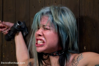 Photo number 14 from This the Face of Someone Who Can't Stop Cumming. <br>Of Someone Not in Control of Anything. shot for Device Bondage on Kink.com. Featuring Krysta Kaos in hardcore BDSM & Fetish porn.