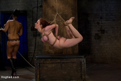 Photo number 4 from Hot 19 yr old suffers a category 5 Hogtied suspension. <br> Isis Love makes her cum over and over  shot for Hogtied on Kink.com. Featuring Iona Grace and Isis Love in hardcore BDSM & Fetish porn.