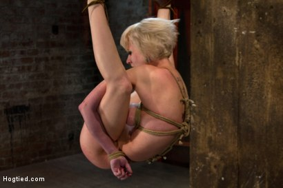 Photo number 12 from Blond with killer natural body, is suspended, suffers intense foot caning<br>Made to cum over & over shot for Hogtied on Kink.com. Featuring Cherry Torn in hardcore BDSM & Fetish porn.