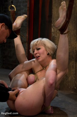 Photo number 13 from Blond with killer natural body, is suspended, suffers intense foot caning   Made to cum over & over shot for Hogtied on Kink.com. Featuring Cherry Torn in hardcore BDSM & Fetish porn.