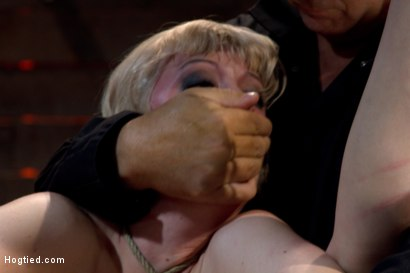 Photo number 11 from Blond with killer natural body, is suspended, suffers intense foot caning<br>Made to cum over & over shot for Hogtied on Kink.com. Featuring Cherry Torn in hardcore BDSM & Fetish porn.