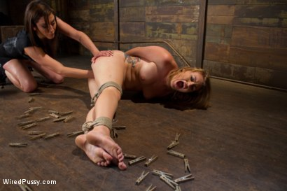 Photo number 4 from Local Babe gets Strung Upsidedown in Electro Predicament Bondage shot for Wired Pussy on Kink.com. Featuring Payton Bell and Princess Donna Dolore in hardcore BDSM & Fetish porn.