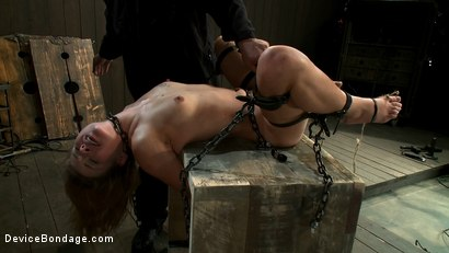 Photo number 9 from Curiosity Wrecked the Pretty Girl shot for Device Bondage on Kink.com. Featuring Tati Russo in hardcore BDSM & Fetish porn.