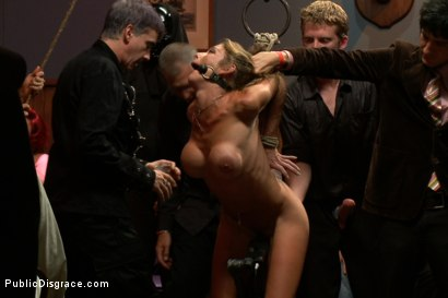 Photo number 2 from The Destruction of Felony shot for Public Disgrace on Kink.com. Featuring Tommy Pistol and Felony in hardcore BDSM & Fetish porn.