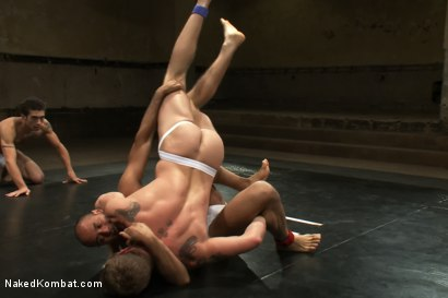 Photo number 6 from Trent Diesel & DJ vs Cameron Adams & Leo Forte <br> The Tag Team Match shot for Naked Kombat on Kink.com. Featuring DJ, Cameron Adams, Trent Diesel and Leo Forte in hardcore BDSM & Fetish porn.